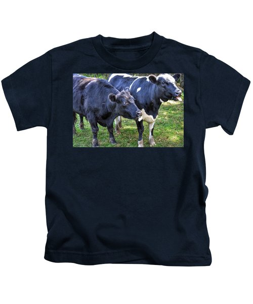 Cows Sticking Out Tongues Kids T-Shirt