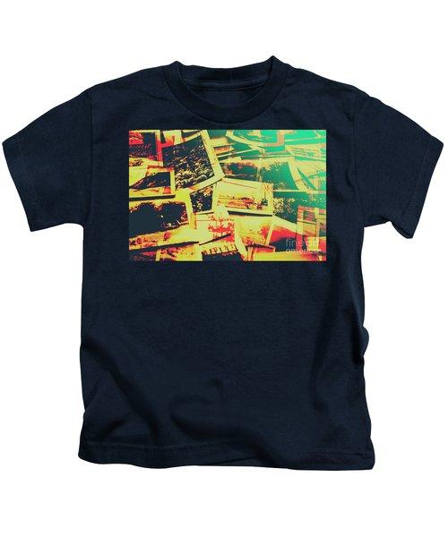 Creative Retro Film Photography Background Kids T-Shirt