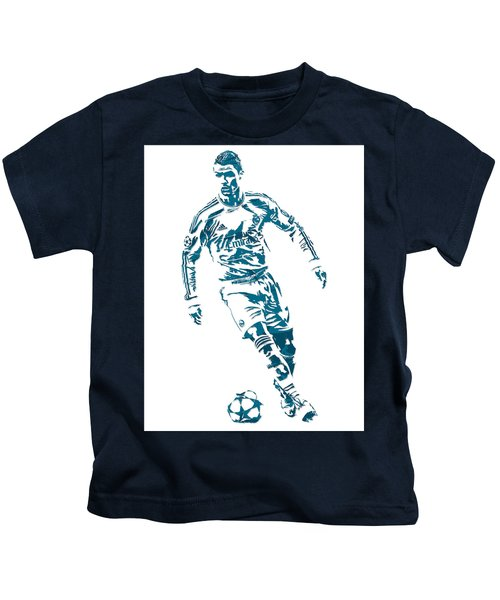 Cristiano Ronaldo Real Madrid Pixel Art 1 Kids T-Shirt