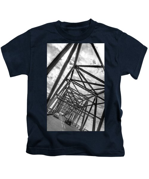 Crossing Through The Chesapeake Bay Bridge Kids T-Shirt
