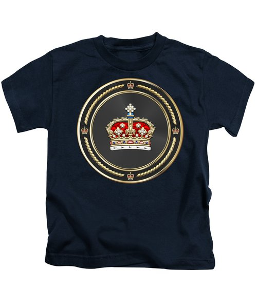 Crown Of Scotland Over Blue Velvet Kids T-Shirt