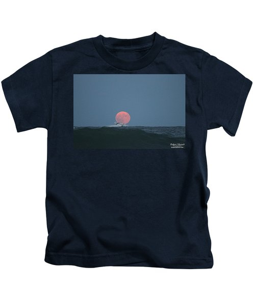 Cruising On A Wave During Harvest Moon Kids T-Shirt