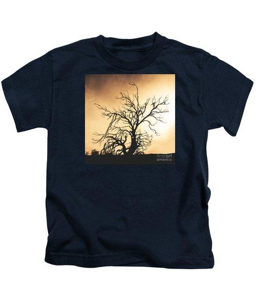 Dead Tree Silhouette Kids T-Shirt
