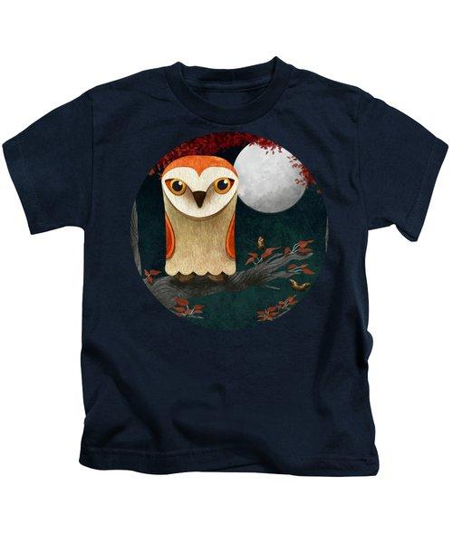 Deep In The Night Owl Eyes Bright Kids T-Shirt