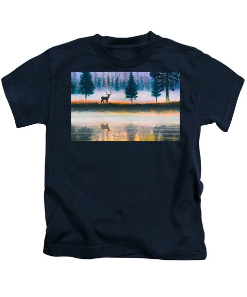 Deer Morning Kids T-Shirt