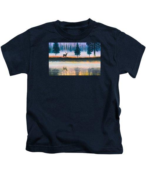 Deer Morning Kids T-Shirt