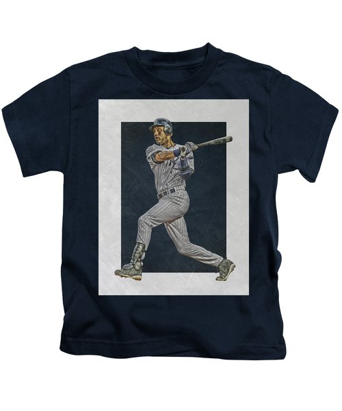 Derek Jeter New York Yankees Art 2 Kids T-Shirt