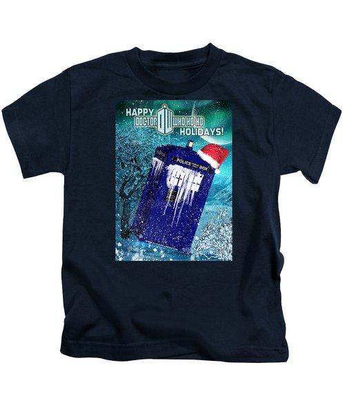 Doctor Who Tardis Holiday Card Kids T-Shirt