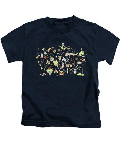 Doodle Bots Kids T-Shirt