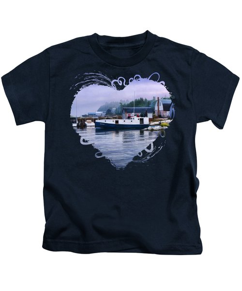 Door County Gills Rock Fishing Village Kids T-Shirt by Christopher Arndt