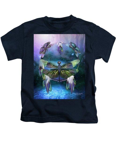Dream Catcher - Spirit Of The Dragonfly Kids T-Shirt