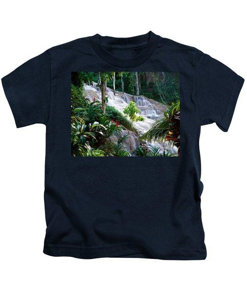 Dunn's River Falls Jamaica Kids T-Shirt