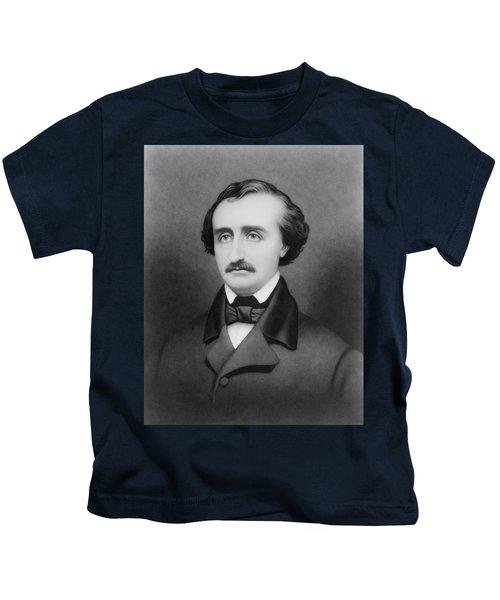 Edgar Allan Poe Portrait Kids T-Shirt