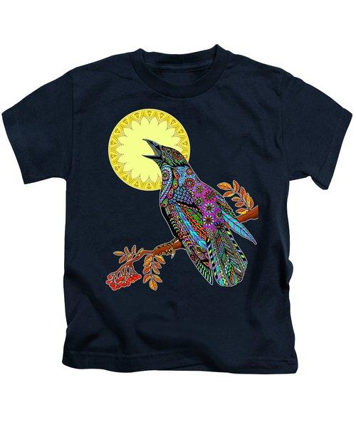 Electric Crow Kids T-Shirt