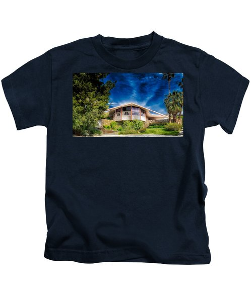 Elvis Presley Honeymoon House In Palm Springs Kids T-Shirt