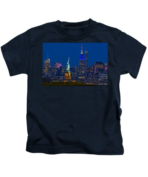 Empire State And Statue Of Liberty II Kids T-Shirt