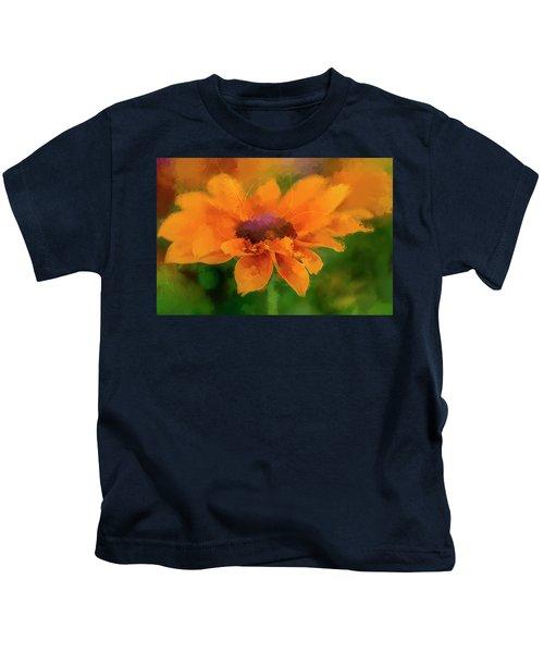 Expressive Sunflower Kids T-Shirt