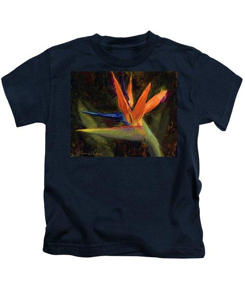 Extravagance - Tropical Bird Of Paradise Flower Kids T-Shirt