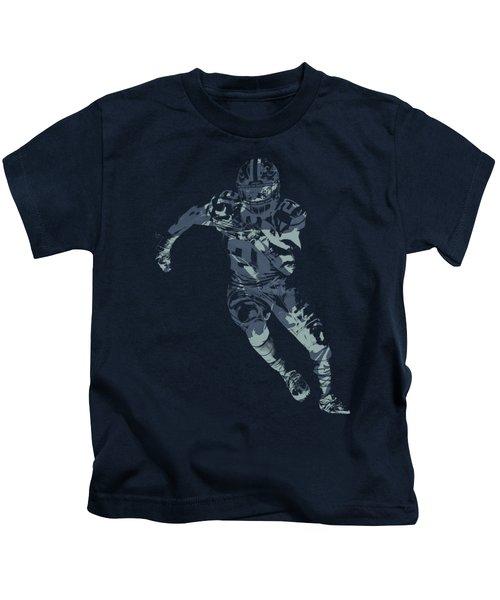 Ezekiel Elliott Cowboys Pixel Art T Shirt Kids T-Shirt