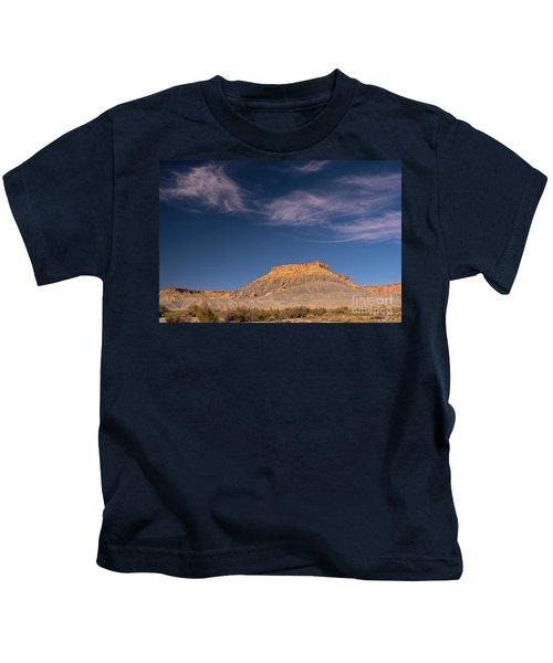 Factory Butte Utah Kids T-Shirt