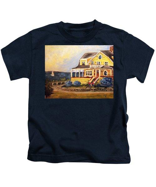 Falmouth Heights View Of Vineyard  Kids T-Shirt