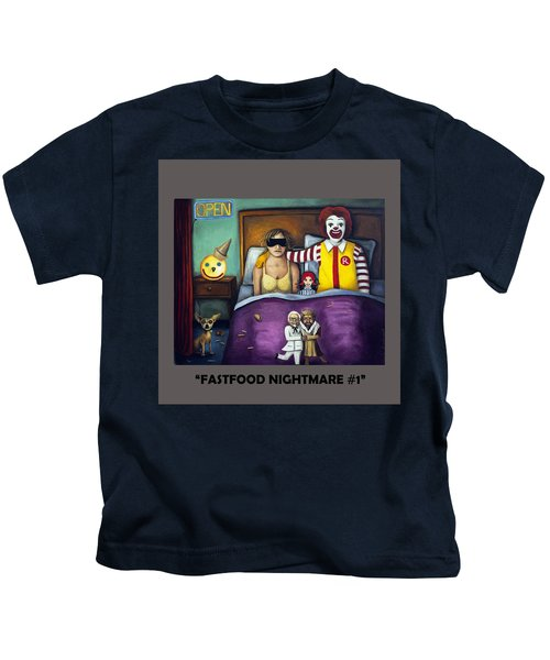 Fast Food Nightmare With Lettering Kids T-Shirt