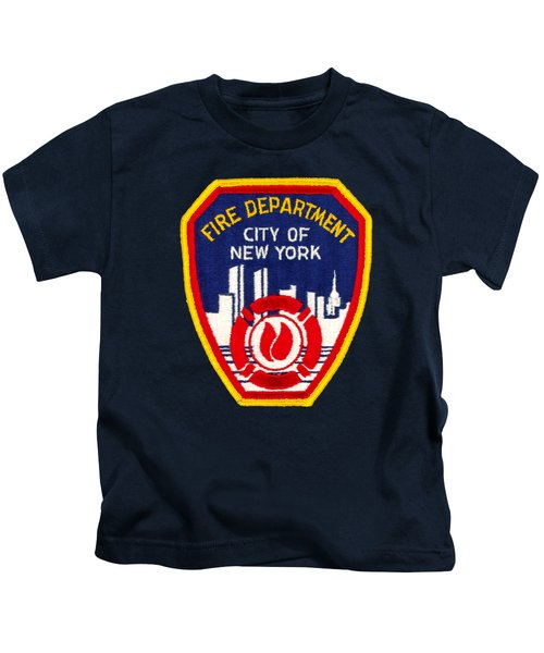 F.d.n.y. - Uniform Patch, Fire Department New York Kids T-Shirt
