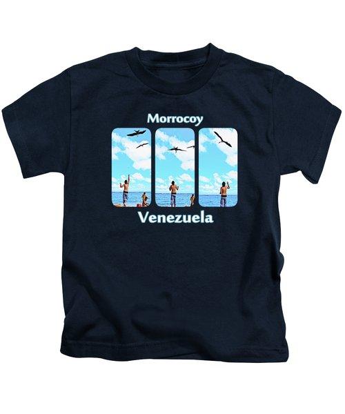 Feeding Sea Birds Kids T-Shirt