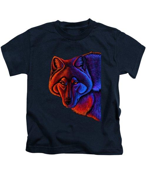 Fire Wolf Kids T-Shirt