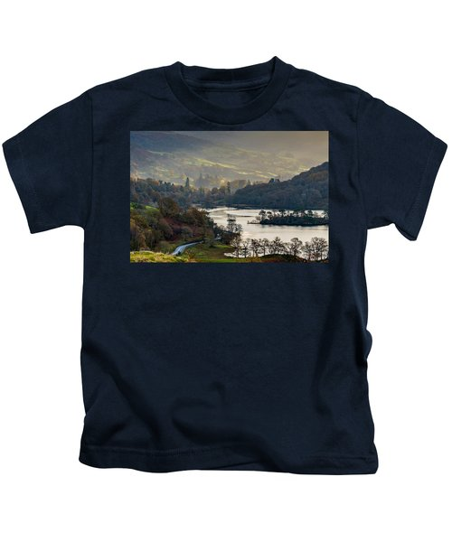 First Light Over Rydal Water In The Lake District Kids T-Shirt
