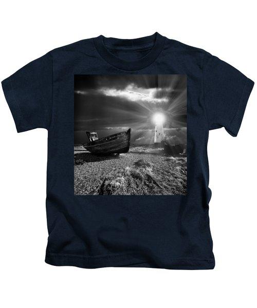 Fishing Boat Graveyard 7 Kids T-Shirt