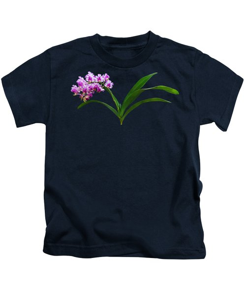 Flowers - Aerides Lawrenciae X Odorata Orchid Kids T-Shirt