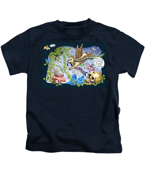 Flying Pig Party Kids T-Shirt