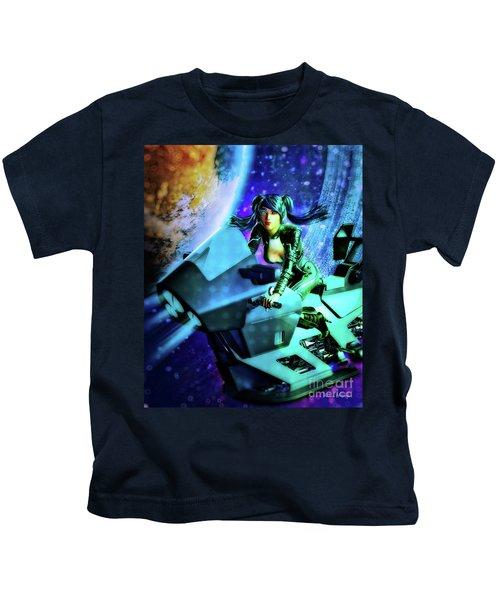Flying Through Galaxies Kids T-Shirt