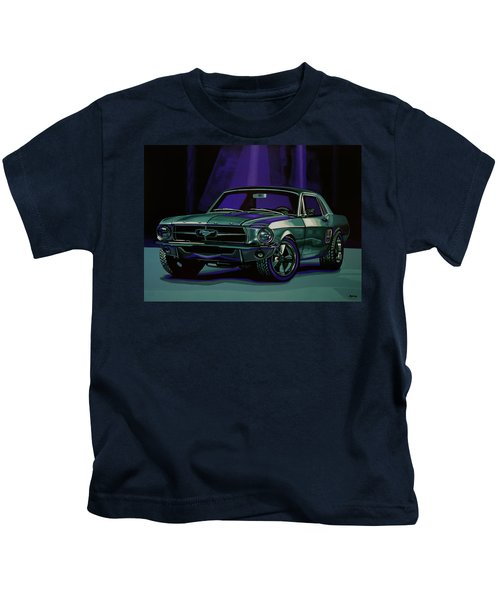Ford Mustang 1967 Painting Kids T-Shirt