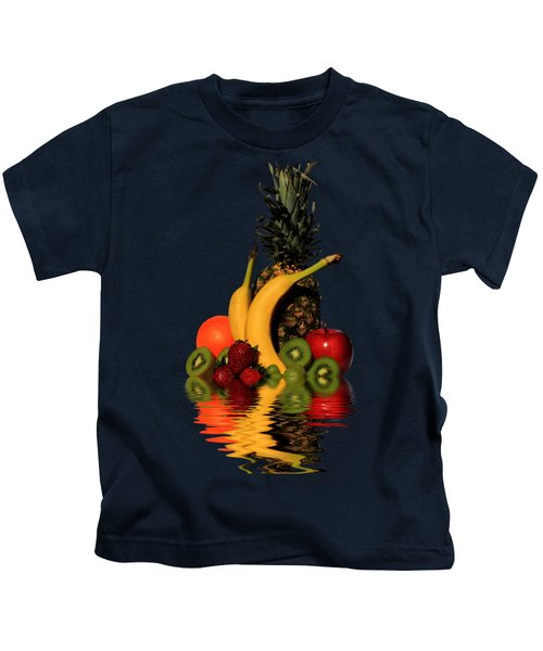 Fruity Reflections - Dark Kids T-Shirt