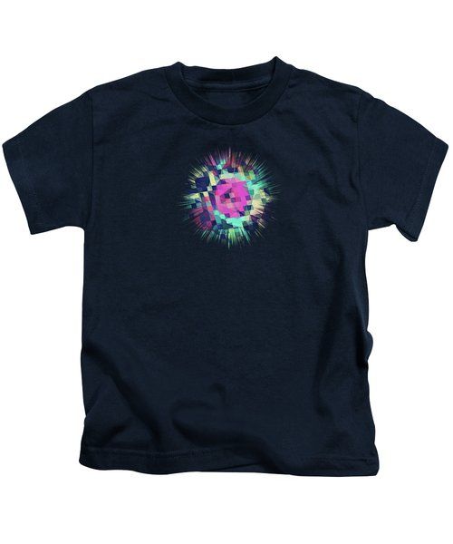 Fruity Rose   Fancy Colorful Abstraction Pattern Design  Green Pink Blue  Kids T-Shirt