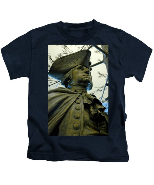General George Washington Kids T-Shirt by LeeAnn McLaneGoetz McLaneGoetzStudioLLCcom