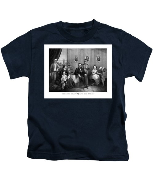 General Grant And His Family Kids T-Shirt