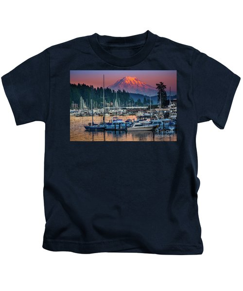 Gig Harbor Dusk Kids T-Shirt