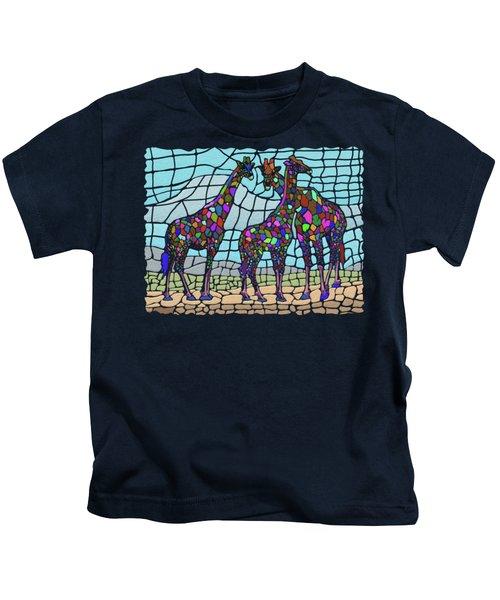 Giraffe Maze Kids T-Shirt