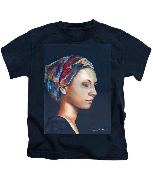 Girl With Headscarf Kids T-Shirt