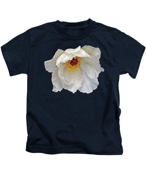 Glamorous White Tree Peony Kids T-Shirt