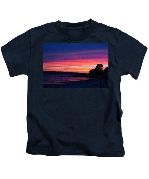 Gloucester Harbor Beach Kids T-Shirt