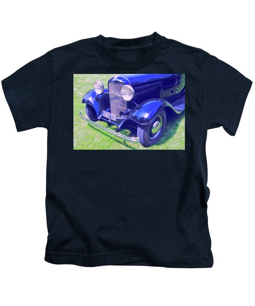Glowing Blue Kids T-Shirt
