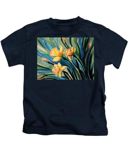 Golden Daffodils Kids T-Shirt