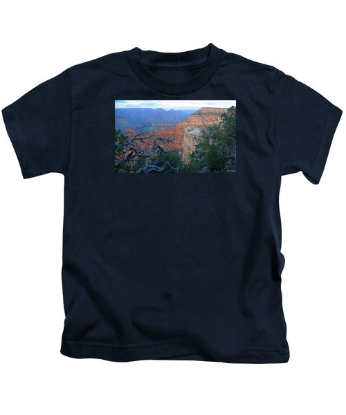 Grand Canyon South Rim - Red Hues At Sunset Kids T-Shirt