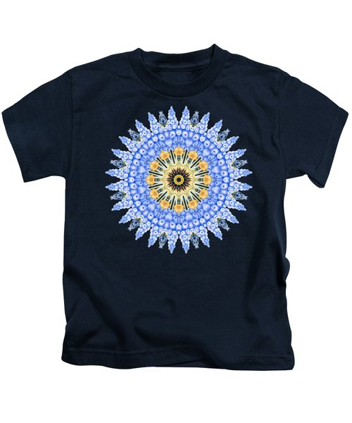 Grape Hyacinth Mandala Kids T-Shirt