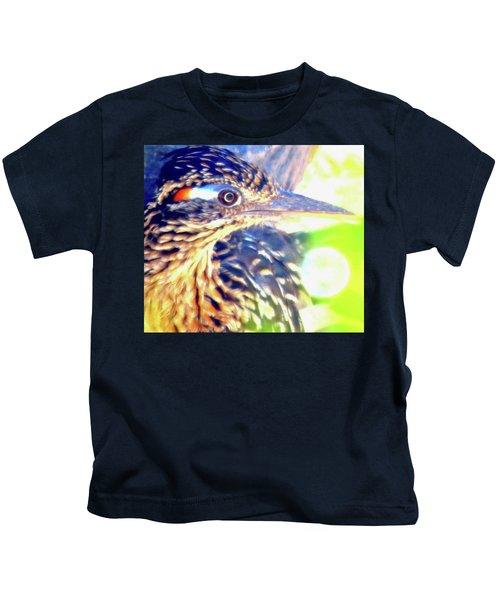 Greater Roadrunner Portrait 2 Kids T-Shirt