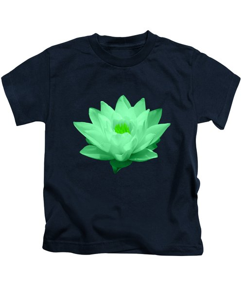 Green Lily Blossom Kids T-Shirt by Shane Bechler